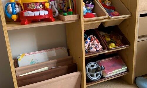 本もオモチャも人形も整理できた!使い勝手抜群のオススメの子供収納
