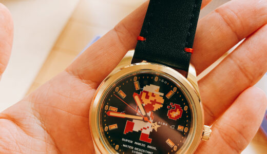 ALBAと任天堂がコラボしたマリオの腕時計を購入!自動巻きで、素敵な時計