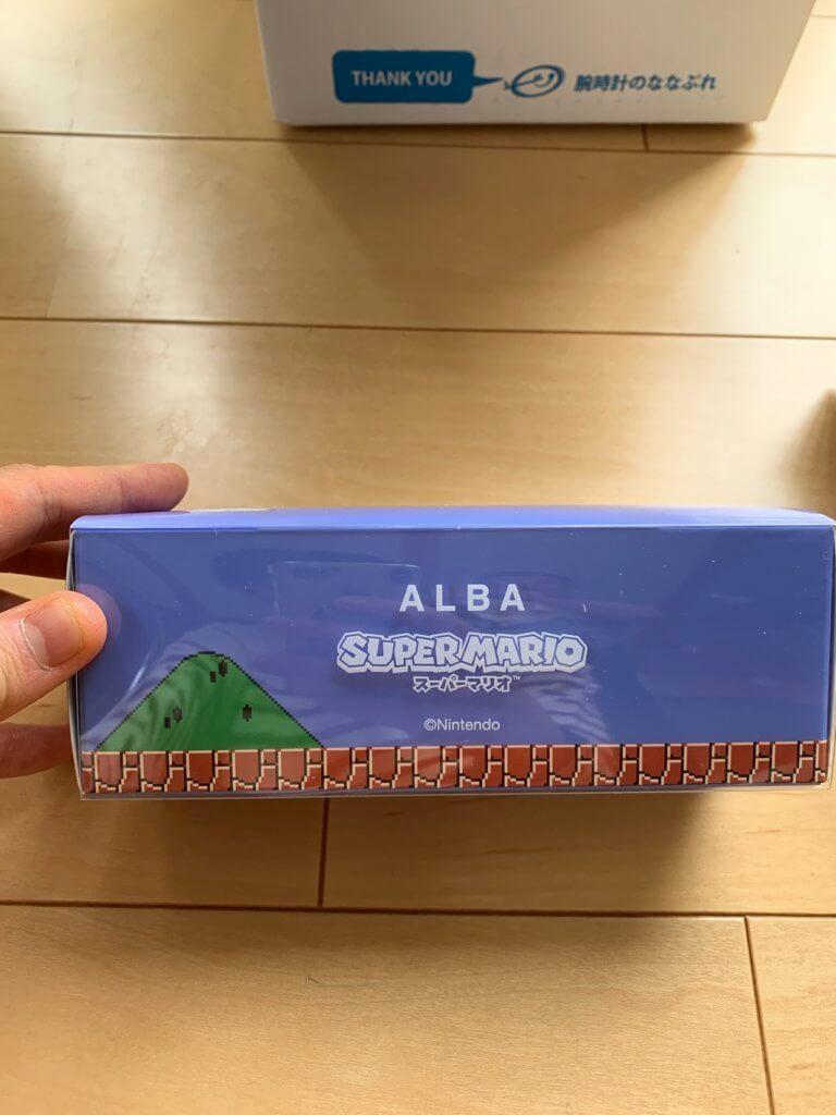 ALBAのマリオの時計の外箱