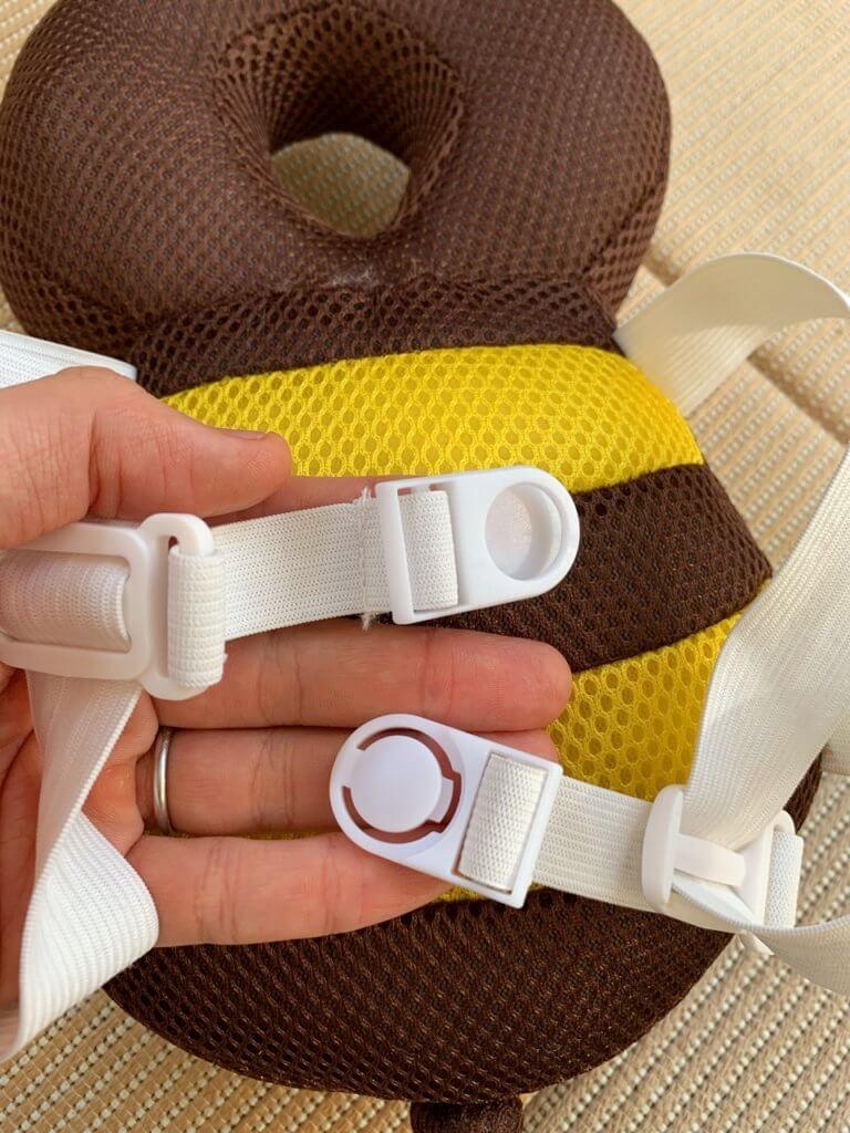 購入した転倒防止リュックの装着ベルト部分