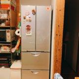 無印良品の木の家の冷蔵庫置き場と冷蔵庫