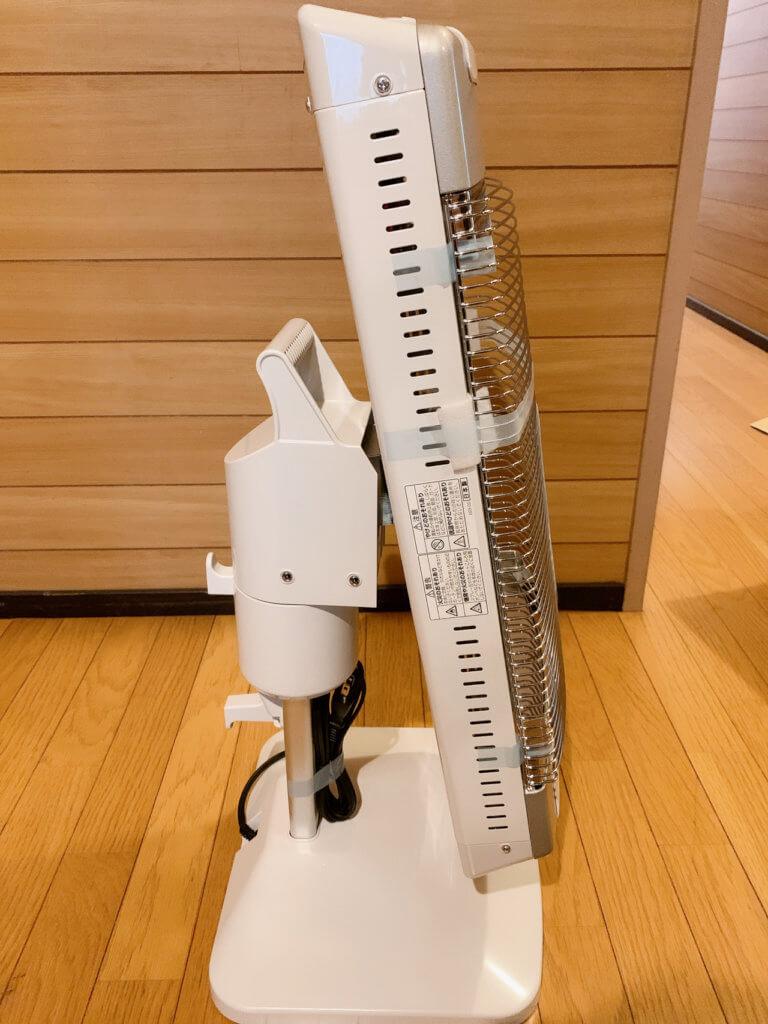 コロナ_コアヒート_遠赤外線電気ストーブのデザイン(側面)