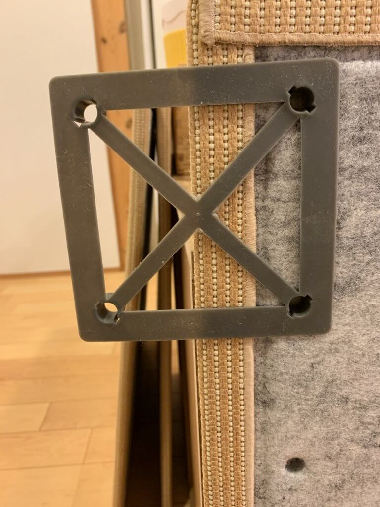無印良品の麻畳マットの連結部