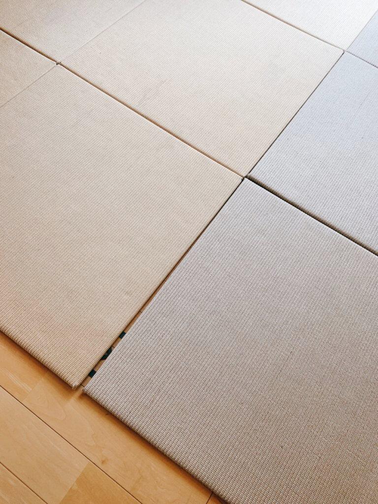 無印良品の木の家の畳スペース(畳マット)