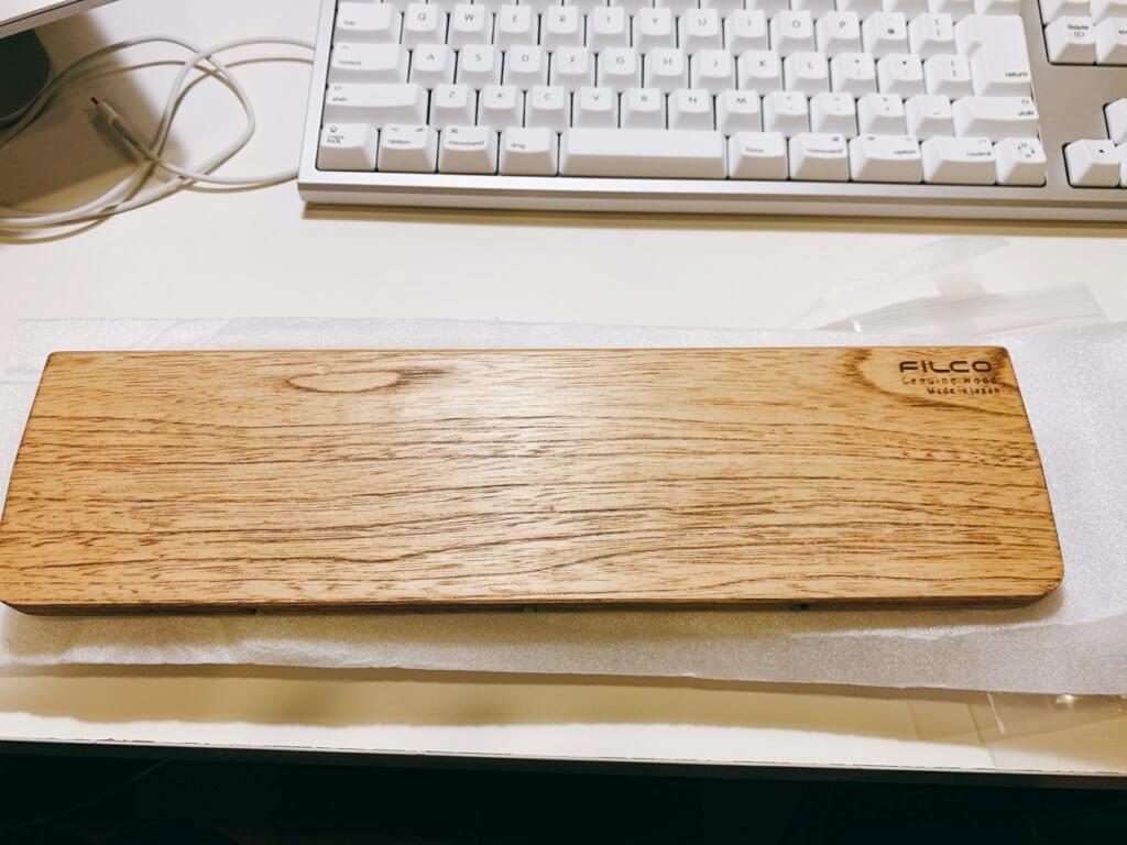 FILCO 木製キーボードリストレストの本体(表面)