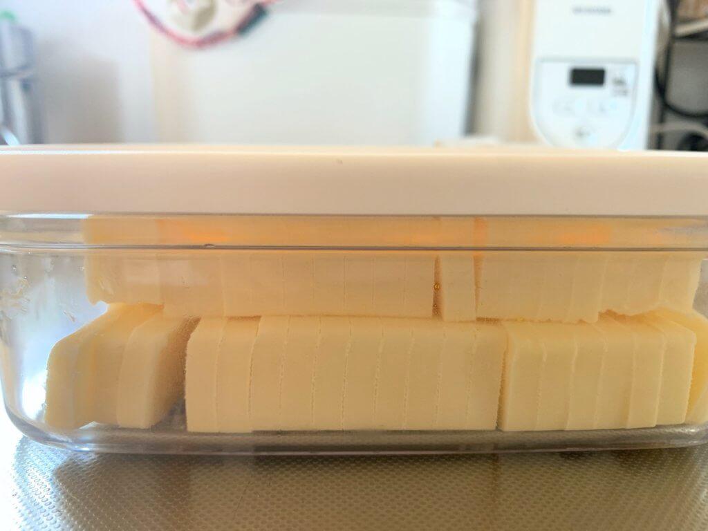 400グラムのバターも入るバターカッターケース