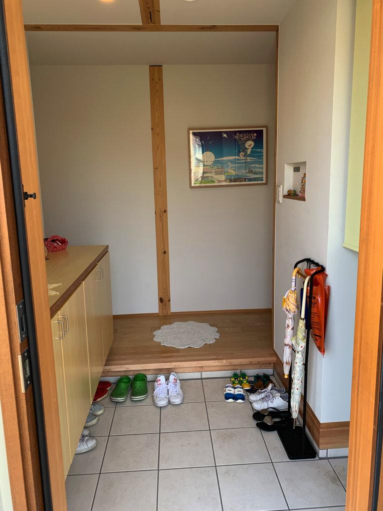 無印良品の木の家の玄関