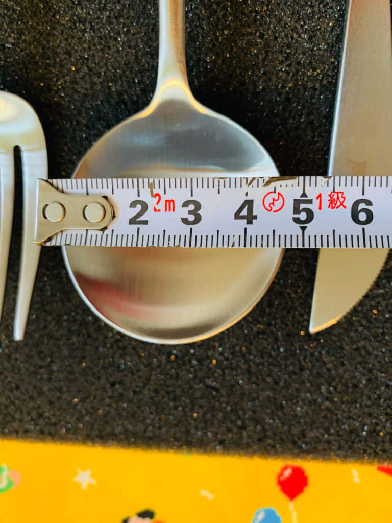 クチポール GOAのデザートスプーンの大きさ