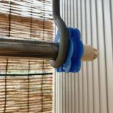 落ちない!洗濯物の物干し竿の落下とズレを防ぐ方法は、物干し竿ストッパー