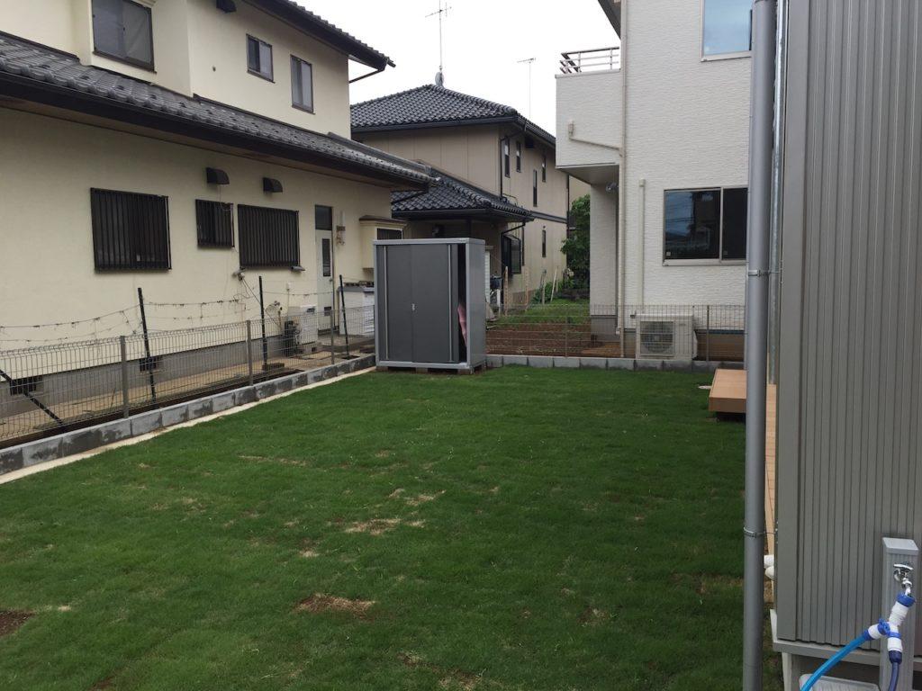 家の庭に天然芝を植えた時