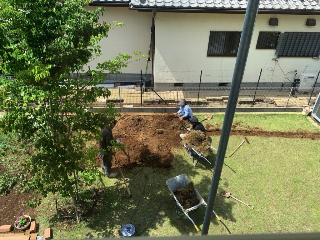 天然芝を剥がす方法