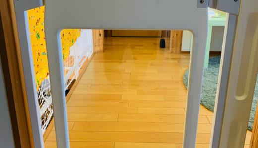 詳しく紹介!階段上に日本育児のベビーゲート「スマートゲイト」取付けました。