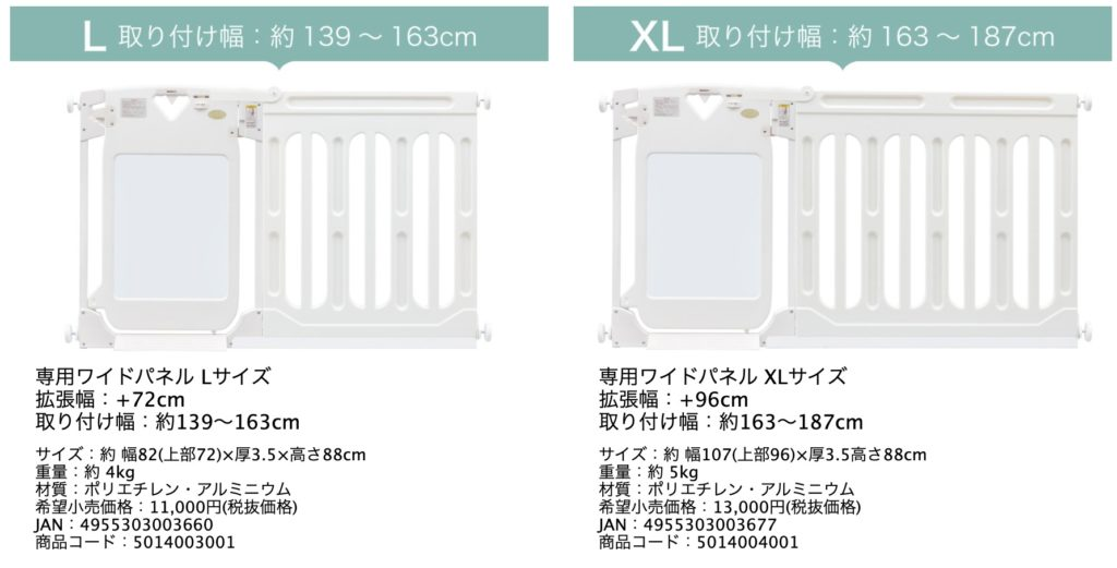 日本育児のベビーゲート「スマートゲート」の拡張性