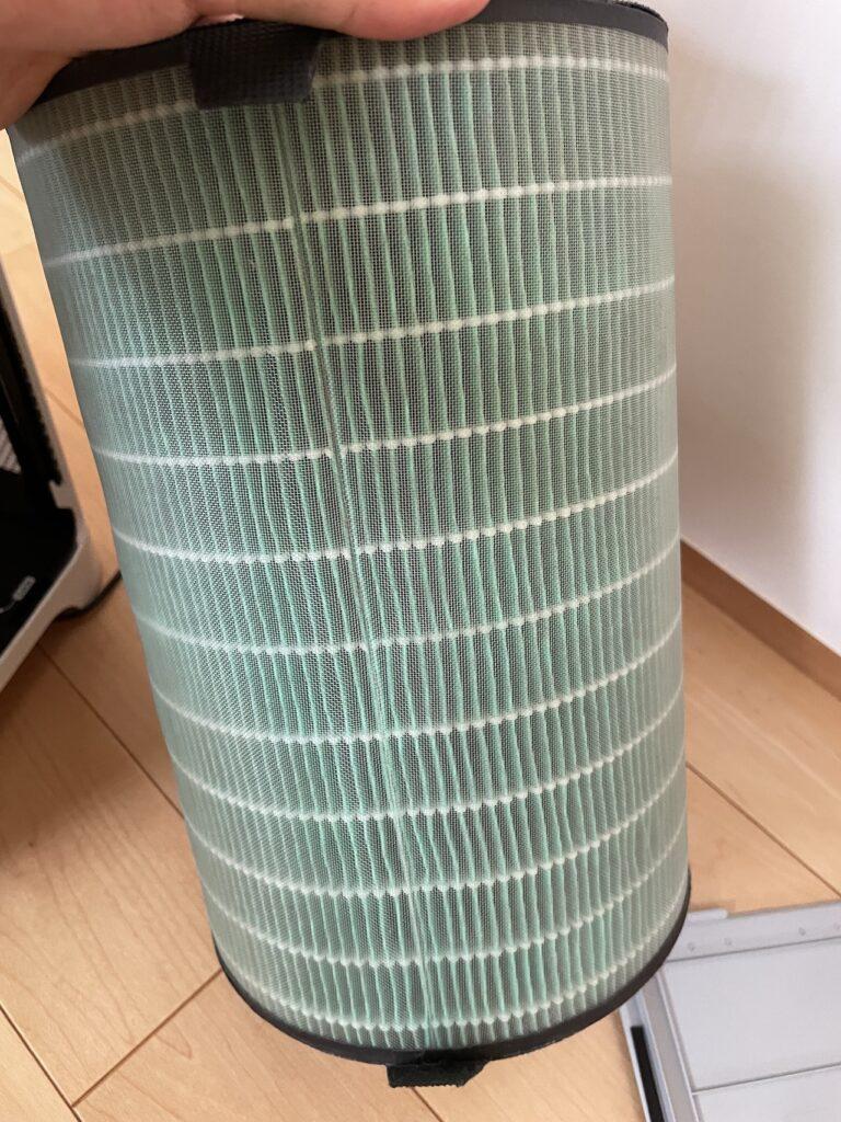 バルミューダの空気清浄機のフィルター